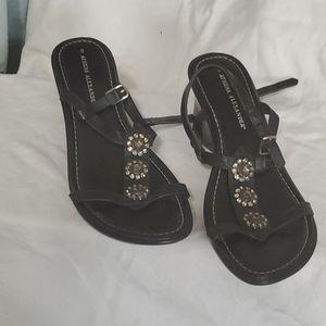 Athena Alexander sandel size 8 black with jewels